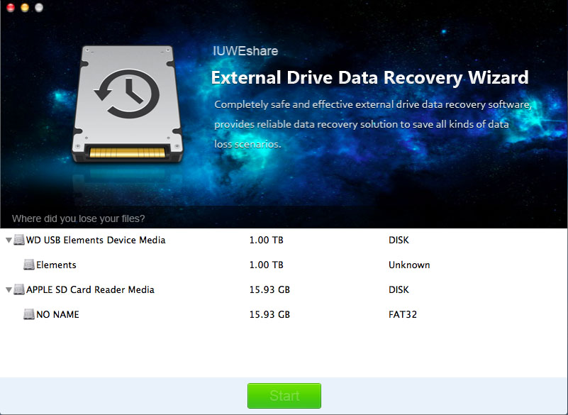 IUWEshare Mac External Drive Data Recove 1.9.9.9 full
